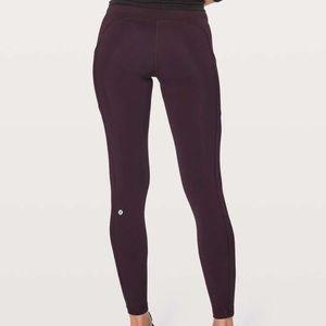 Lululemon leggings side pockets purple